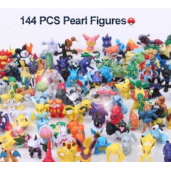 144 st Pokémon Figurer Anime Mini Leksak Leksak Mini Pokémon