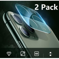 2 Pack iPhone 11, 11 Pro, Pro Max Kamera Härdat Glas Skärmskydd Till iPhone 11 Pro, Pro Max