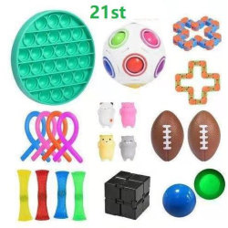 21 Pack Fidget Toys Pop it Stress Ball Leksak Relax Antistres