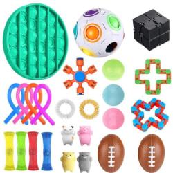 25 Pack Fidget Toys Pop it Stress Ball Leksak Relax Antistres