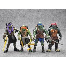 4 Pack Teenage Mutant Ninja Turtles- 12CM- Ny Modell
