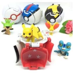 4st Modell Pokemon Action Anime Figures Balls- Innehåll Pikachu