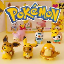 6st Söta Färgglada Pokémon Figurer Pokemon Innehåller Pikachu