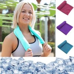 Cooling Towel Kylhandduk Sporthandduk Svalkande handduk 3 färger Lila