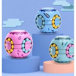 Fidget Toy Puzzle Ball Pop It Cube 3st Fäger  Ljusblå