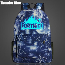 Fortnite ryggsäck Night Luminous Skola Väskor  lyser i mörkret Blue Thunder Blue