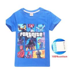 Fortnite T-Shirt för Barn 140-160 Blue 160 Blå (Modell 8391)
