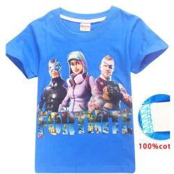Fortnite T-Shirt för Barn Blå 140 Blå (Modell 8393)