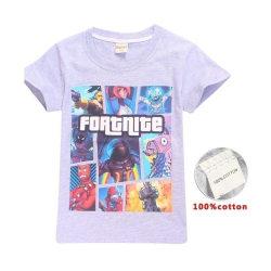 Fortnite T-Shirt för Barn Grå 8391- Storlek 160 Ny! Fri Frakt!