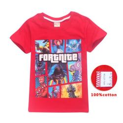 Fortnite T-Shirt för Barn Red 160 Röd (Modell 8391)