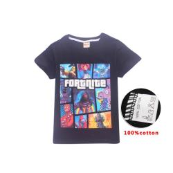 Fortnite T-Shirt för Barn Black 140 Svart (Modell 8391)