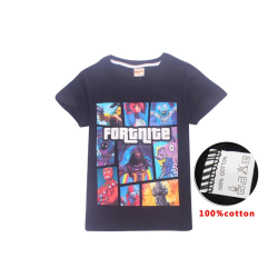 Fortnite T-Shirt för Barn Black 150 Svart (Modell 8391)