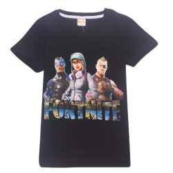 Fortnite T-Shirt för Barn Black 150 Svart (Modell 8393)