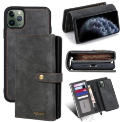 iPhone 11 Pro  - Plånboksfodral / Magnet Skal 2 Färg Black Till iPhone 11 Pro Svart