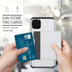 iPhone 11 Pro Stöttåligt Skal med Kortfack 5st Färg -Plånbok Svart Till iPhone 11 Pro Svart