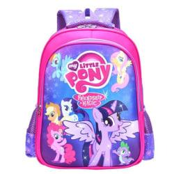 My Little Pony Ryggsäck skolväska Bäst barn julklapp Blue