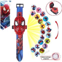 Spider Man klocka med projector funktion 24st Bildspel julklappa