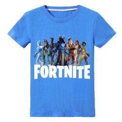 T Shirt med Fortnite Tryck Blå Fäger Storlekar 140 Blå Blå