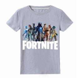 T Shirt med Fortnite Tryck Grå Fäger Storlekar 130-150 för Barn Grey Grå140