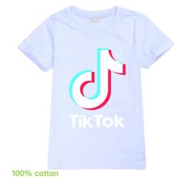 Tik Tok T- Shirt Kortärmad Vit Storlek 150 150