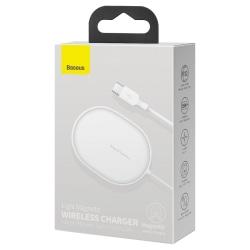 Baseus Qi 15W trådlös laddare till iPhone 12 - Vit