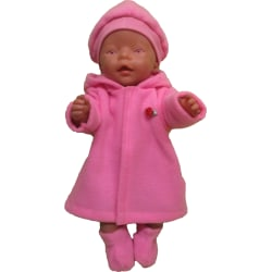 Rosa Kappa-set till Baby Born rosa