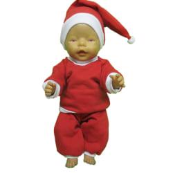 Tomtekläder till Baby Born röd