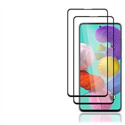 2 st top  kvalitet  heltäckande skärmskydd för Samsung A51