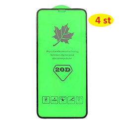 4 st 20D   plexiglas för iphone 11pro max svart