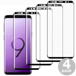 4 st top kvalitet  heltäckande skärmskydd för Samsung S9 plus
