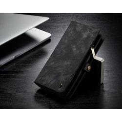 CaseMe(008) äkta läder med dragkedja för iphone 11 svart