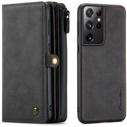 CaseMe 018 för Samsung Galaxy S21 Ultra Plånboksfodral svart svart