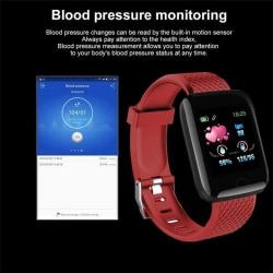 Fitness smart klocka röd armband
