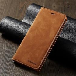 hög kvalitet fodral för samsung A71 brun