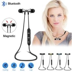 Magnetiska  Bluetooth Sporthörlurar blå