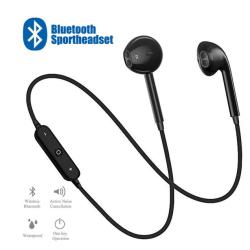 snyggt enkla trådlösa hörlurar med mic svart