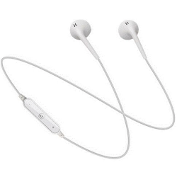 snyggt enkla trådlösa hörlurar med mic vit