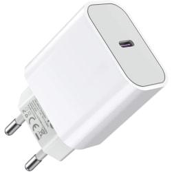 iPhone laddare för 11/12 MAX PRO USB-C Väggadapter 20W PD Vit