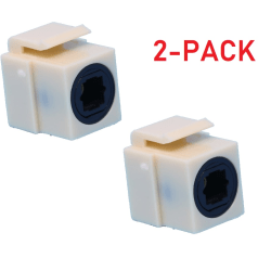 Toslink skarvdon modul optiska keystone (2-pack)