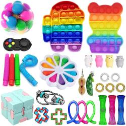 30st Fidget Toys Pack Sensory Pop it Stress Ball Party Present 30pc