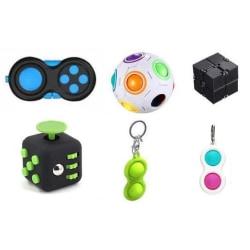 6-pack Fidget Toys Set för barn och vuxna flerfärgad