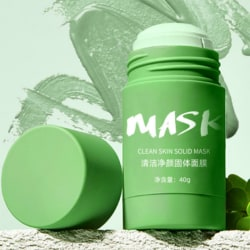 Green Tea Stick Natural Mask Eggplant Cleans Pores Mask Anti-Ac Green