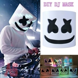 Need to assemble-LED DJ mask cosplay accessories helmet party White
