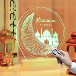 Ramadan Eid Mubarak dekorationer LED-lampor