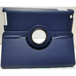 Läder fodral till iPad 2, 3 och 4 - Marinblå