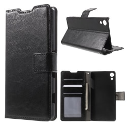 Plånboksfodral till Sony Xperia X - svart