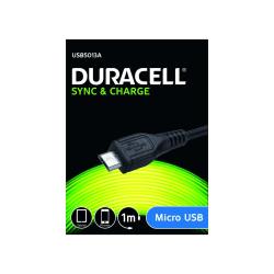 Duracell 501 USB til Micro USB Kabel, 1 m Svart