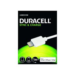 Duracell 5012 USB til Lightning Kabel, 1 meter Vit