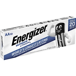 Energizer AA Lithium Batteri 10 pack Aluminium