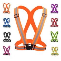 Reflexsele / Reflexväst / Bröstsele med Reflex / Orange Orange